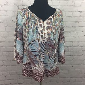 Anthropologie Figueroa & Flower BohoPeasant Blouse